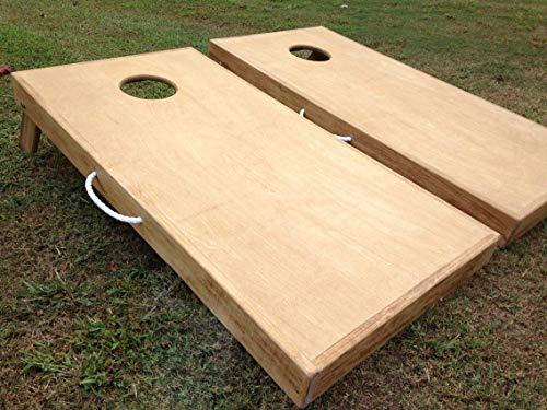 Plain Unfinished DIY Cornhole Board Set