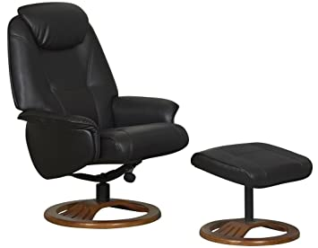 Beau Global Furniture Alliance Oslo Bonded Leather Recliner Chair And Footstool,  Chocolate