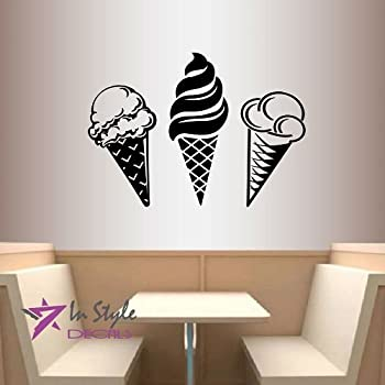 Wall Vinyl Decal Home Decor Art Sticker Sorts Of Ice Cream Kitchen Café  Room Removable Stylish