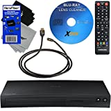 Samsung BD-J5100 Curved Disk Blu-ray Player + Remote Control + Xtech Blu-Ray Disc Laser Lens Cleaner + Xtech High-Speed HDMI Cable with Ethernet + 2 HeroFiber Ultra Gentle Cleaning Cloths