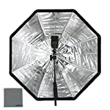 Fomito Photo Studio 120cm/47in Portable Octagon Flash Speedlight Umbrella Softbox Soft Box Brolly Reflector for Studiolights Speedlite LED Canon Nikon Sony Godox Yongnuo Neewer Comet Jinbei