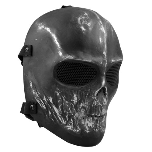 Easy Provider Skull Airsoft Paintball Hunting Full Face Protect Mask Mesh Goggle