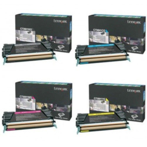 Lexmark C5242/ C5340 Series OEM Return Program Extra High Yield Toner Value Pack - 4 Colors, Lexmark C534
