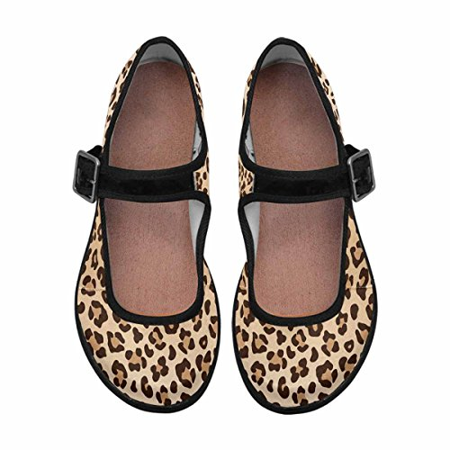 InterestPrint Womens Comfort Mary Jane Flats Casual Walking Shoes Multi 2 SLA16