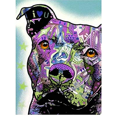 Jigsaw Puzzle 1000 Piece American Bully Pitbull DIY Decoration Classic Puzzle 3D Puzzle DIY Kit Wooden Toy Unique Gift Home Decor: Toys & Games