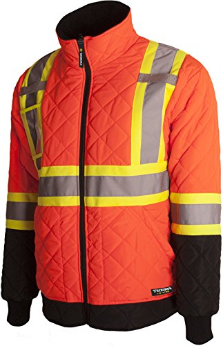 Terra 116505ORXL High-Visibility Quilted And Lined Reflective Safety Freezer Jacket, Orange, X-Large by Terra
