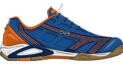 Hi-Tec Infinity Flare Mens Indoor Court Shoe Blue/Tangelo/Navy from Hi-Tec