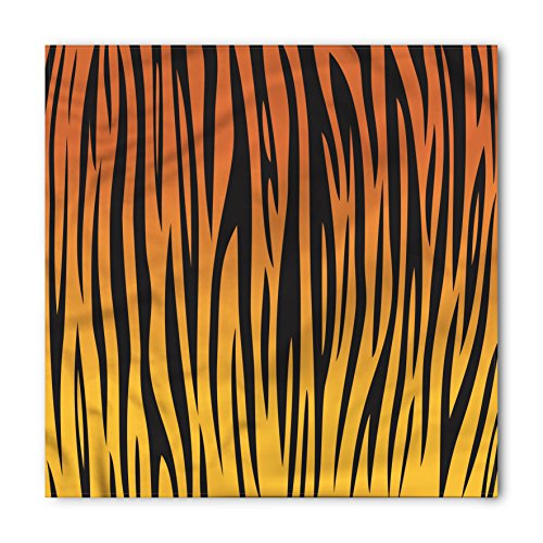 (Lunarable Animal Print Bandana, Vertical Curvy Lines, Unisex Head and Neck)