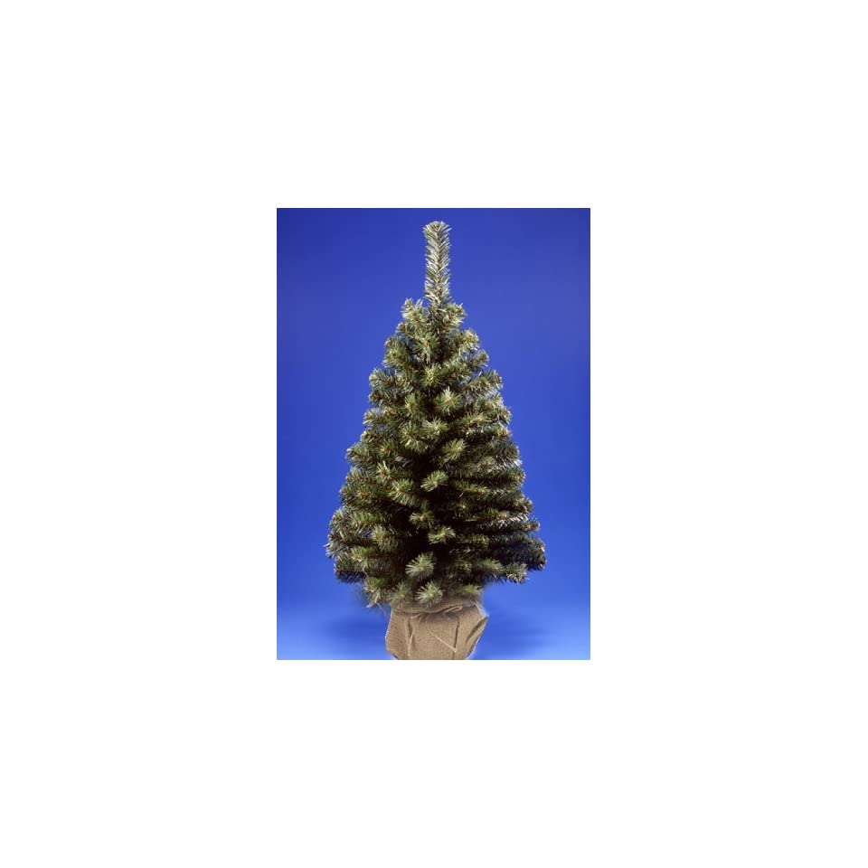 3 Noble Spruce Artificial Christmas Tree In Burlap Bag