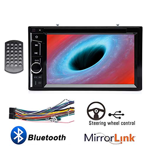 (Double Din Car Radio CD DVD Player with Touchscreen 6.2