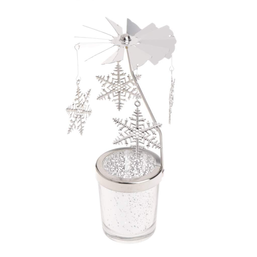 ZUIMEI Portavelas giratorio de metal para decoraci/ón del hogar 01