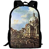 Sacred Church Painting Fashion Outdoor Shoulders Bag Durable Travel Camping Backpack For Adult