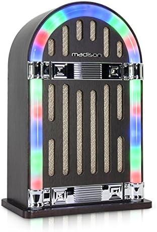 Madison Mad-Jukebox10 Vintage - Tocadiscos con Bluetooth: Amazon ...