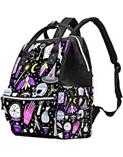 Butterflies and Flowers Diaper Bag Backpack, Multifunction Maternity Baby Changing Nappy Bags Large Capacity Nursing Traveling Mummy Bag