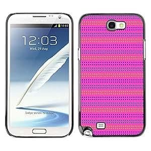 For SAMSUNG Galaxy Note 2 II / N7100 Case , Pink Purple Pattern Lines Summer - Diseño Patrón Teléfono Caso Cubierta Case Bumper Duro Protección Case Cover Funda