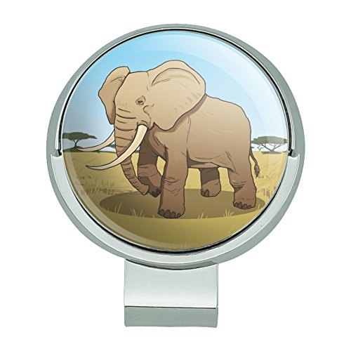 Elephant Golf - GRAPHICS & MORE African Elephant Golf Hat Clip with Magnetic Ball Marker