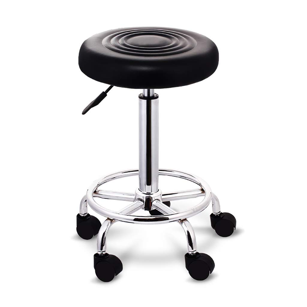 Black ZYANZ redating Bar Stool, Modern High Stools, Adjustable Footstool Chair, Used for Restaurant, Office, Counter, Family (color   orange)
