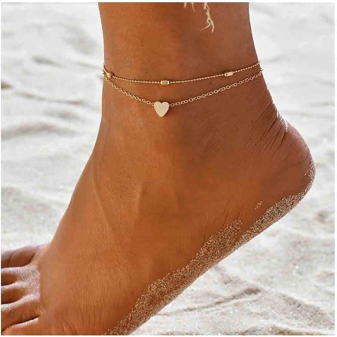 Yfe Tiny Heart Anklet...