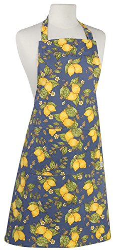 Now Designs Basic Cotton Kitchen Chef's Apron, Provencal Lemon Print (Print Provencal)
