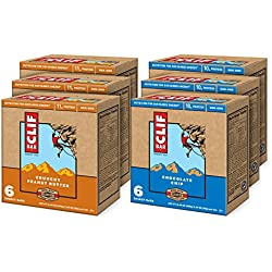 CLIF ENERGY BAR - Value Pack - Chocolate Chip and Crunchy Peanut Butter - (2.4 oz, 6 Count, 6 Pack)