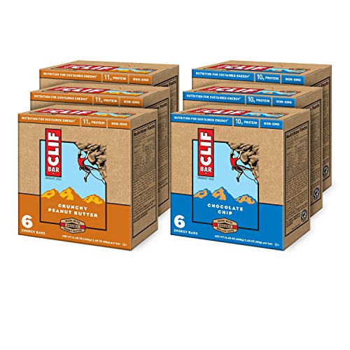 CLIF-ENERGY-BAR-Value-Pack-Chocolate-Chip-and-Crunchy-Peanut-Butter-24-oz-6-Count-6-Pack