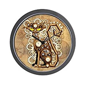 CafePress Steampunk Cat Vintage Style Unique Decorative 10″ Wall Clock