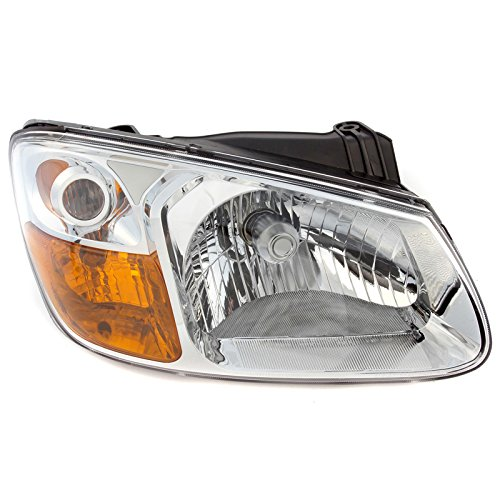 CarPartsDepot Front Bumper Head Light Right Hand Side Fit 07-08 Kia Spectra Sedan KI2503128