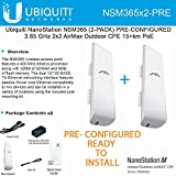Ubiquiti NSM365 (2-PACK) PRE-CONFIGURED NanoStation 3.65GHz AirMax CPE