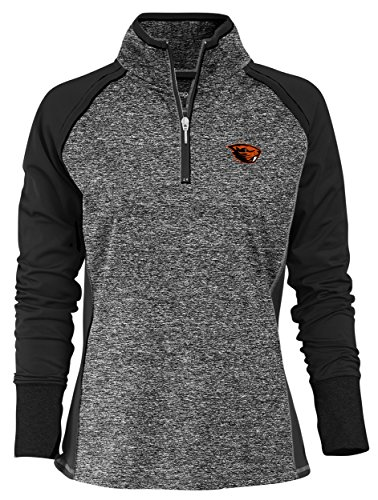 Camp David NCAA Finalist Women's Quarter-Zip Pullover Oregon State Beavers X-Large Black