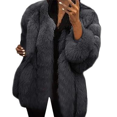 comprare popolare comprare on line sempre popolare BaZhaHei Giacca Donna,Giacca Donna Pelliccia Ecologica Inverno Moda Caldo  Manica Lunga Cappotto Donna Taglie Forti