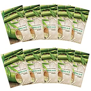 Nature Republic Real Nature Mask 10 Sheets for Skin Hydration (Bamboo)