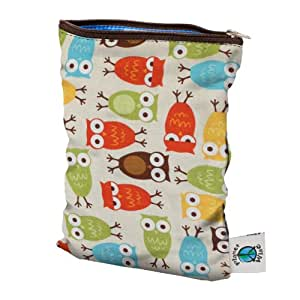 Planet Wise Wet Diaper Bag, Owl, Small