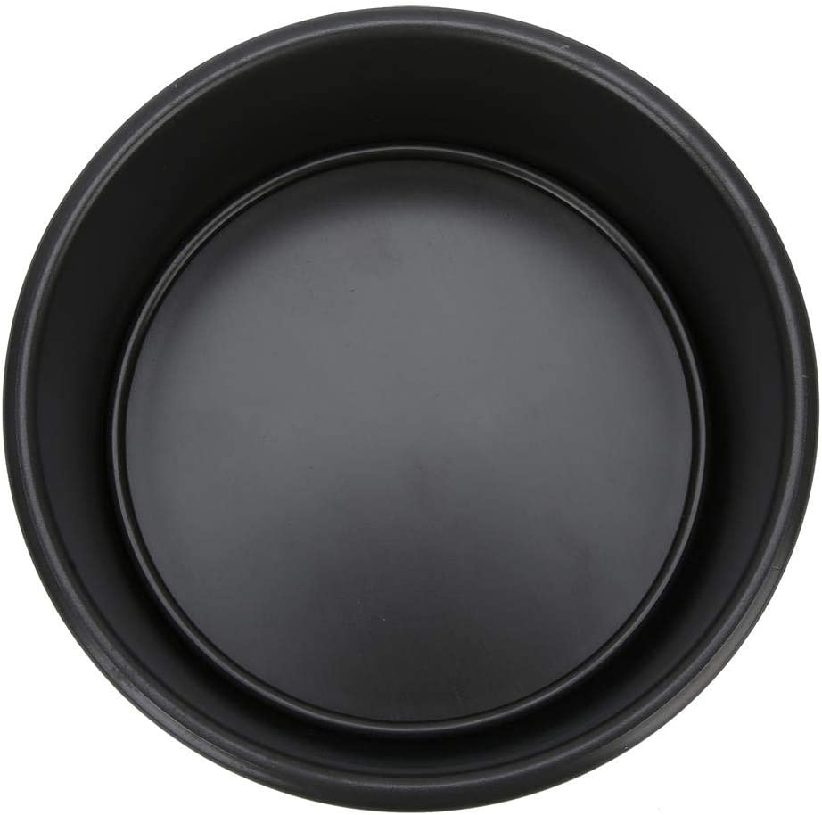 Black Good Texture/&Smoothly DIY Baking Tool Accessories Round Cake Mold 6 Inch Aluminum Alloy Removable Bottom Baking Mold
