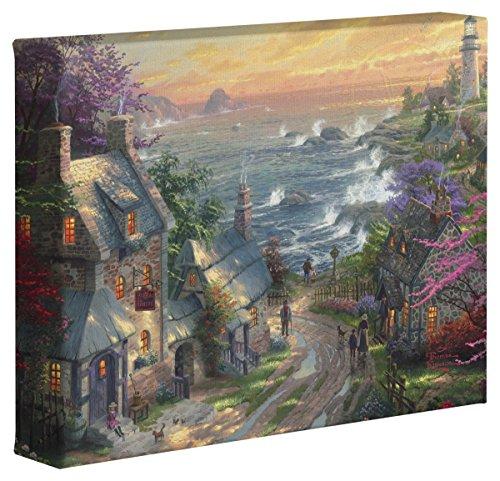 "Thomas Kinkade The Village Lighthouse 8"" X 10"" Gallery Wrapped Canvas"