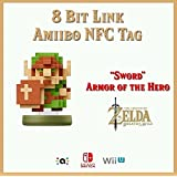 8-Bit Link Customized Amiibo NFC Tag Card - Zelda Breath of the Wild 30th Anniversary