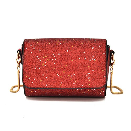 Ms Trend Sequins Fashion Crossbody Shoulder Bag Casual Bags Small Square Wild Daypack Pack Outdoor Shopping Network