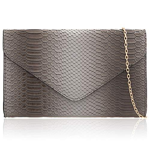 Pour Print Xardi Pochette Grey London Crocodile Femme 0O0nEWq