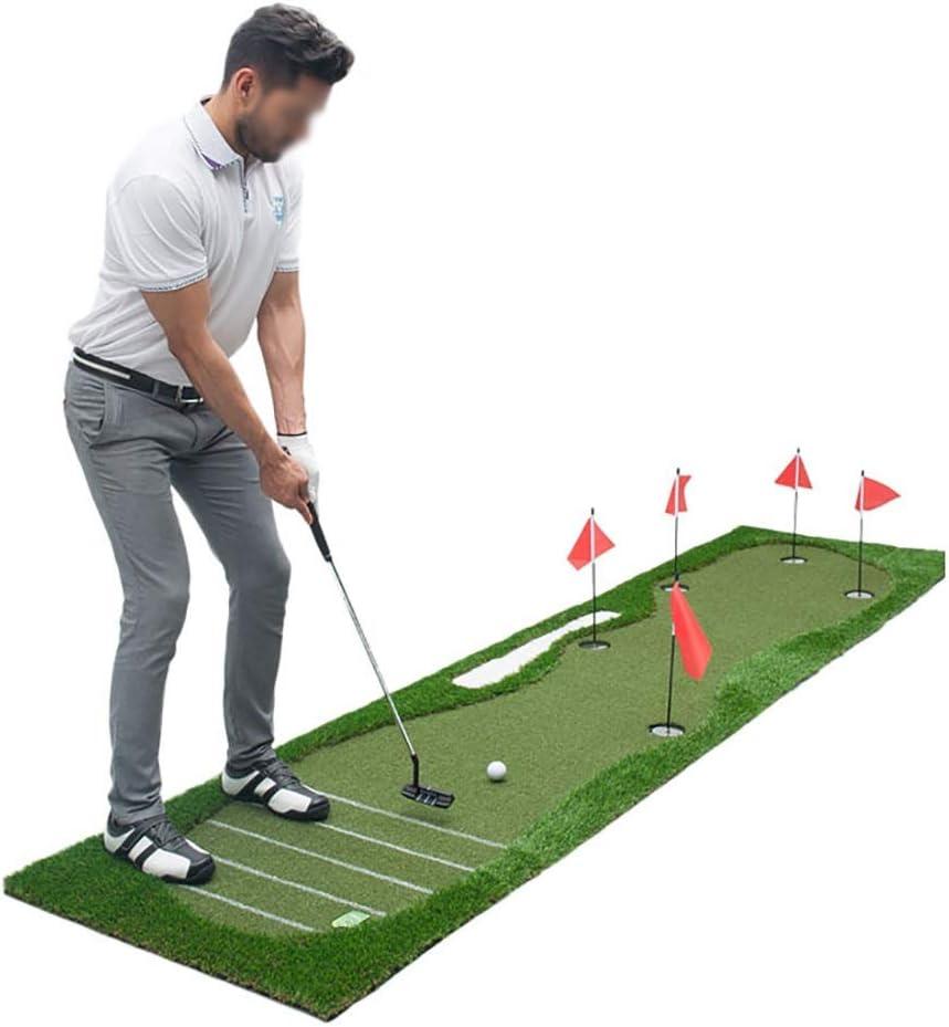 ゴルフ パターマット Golf Putting Mat 屋内&屋外ゴルフパッティングトレーナー、ゴルフパッティング練習マット、ゴルフトレーニングエイドマットを敷き、あなたの家であなたのパッティングストロークを向上させます(0.8 * 3.5M)  0.8*3.5m
