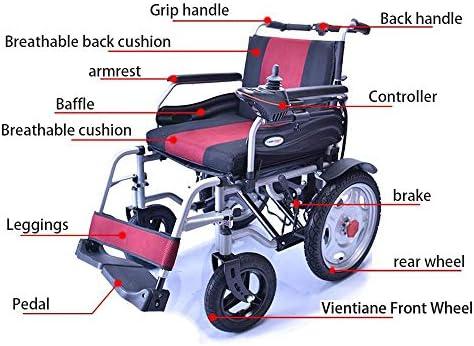 Xiao Jian- Silla de Ruedas, Silla de Ruedas eléctrica de Cuatro Ruedas para discapacitados, Scooter Inteligente portátil Plegable, Carga 120 kg Silla de ...