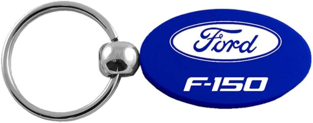 Ford Logo Blue Aluminum Oval Key Chain