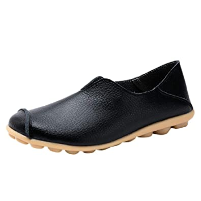 f04e17f4fc1 OrchidAmor New Women Round Toe Solid Color Slip-On Shoes Flat Single Shoes  Peas Boat