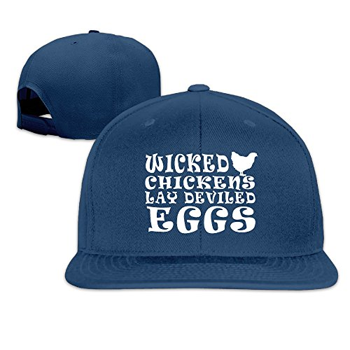 WICKED CHICKENS LAY DEVILED EGGS Baseball Cap With Adjustable Velcro
