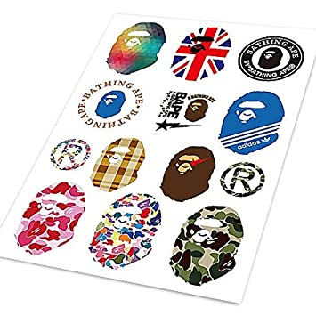 Bathing Ape Bape Stickers A4 Colored Car Styling Waterproof Graffiti Sticker Auto Motorcycle Bike Laptop Skateboard