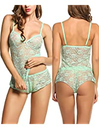 Avidlove Women Baby Doll Lingerie Sleepwear Pajamas Short Sets Lace chemises