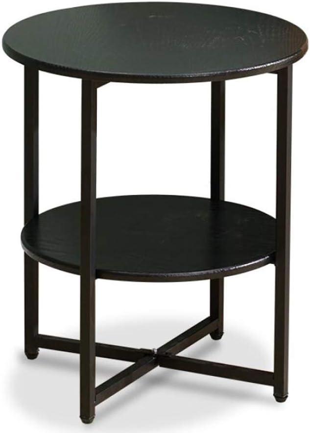Verbazingwekkend 1.14 salontafel, woonkamertafel, 2 dier, bijzettafeltje ijzer + hout, salontafel, bijzettafel, nachtkastje met opbergplank, voor woonkamer (kleur: zwart) zwart Tdl7zAu