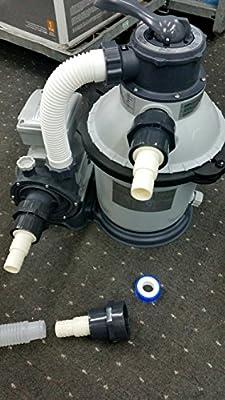 Adaptador de Manguera Conector de la Piscina Laurens Adaptador para Intex Bomba E5-38//32mm Manguera