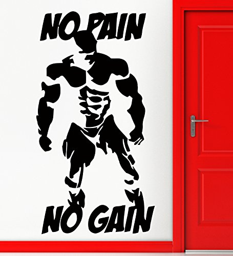 Wall Stickers Vinyl Decal Sport Gym Bodybuider Decor No