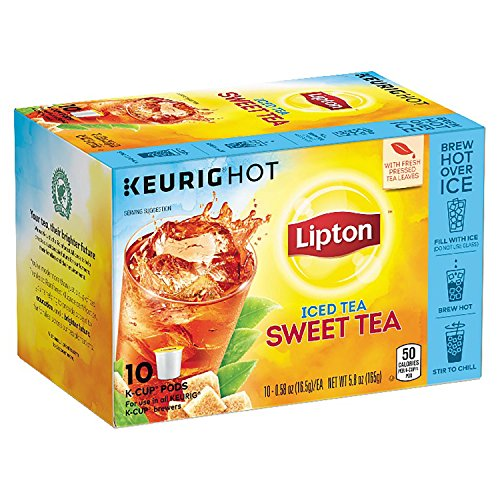 Lipton Iced Black Tea, Sweet Tea K Cups Pods, 10 ct