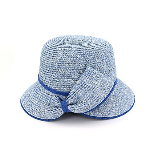 Gaojuan Spring and Summer Hat Female Jazz Straw Hat Sun Protection Shade Hat Bow-Knot Lady Hat Tourist Beach Cap Sun Cap (Color : ()