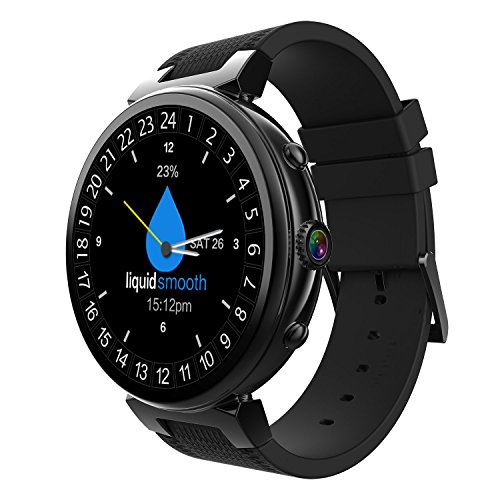 Womens Gel Trail Sensor - OOLIFENG Smart Watch Android 5.1 2G+16G Bluetooth Sport Watches GPS 3G Wi-Fi Heart Rate Monitor Google Play Wristwatch,Black